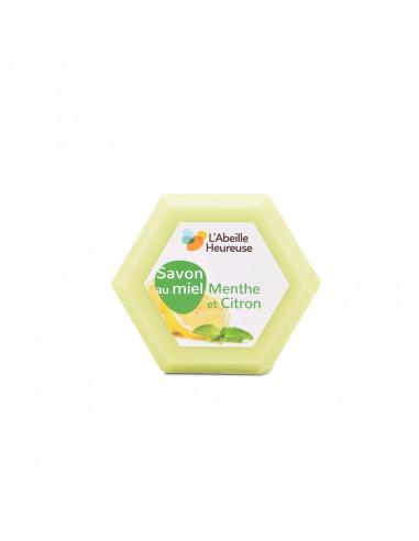 Savon au miel, menthe et citron